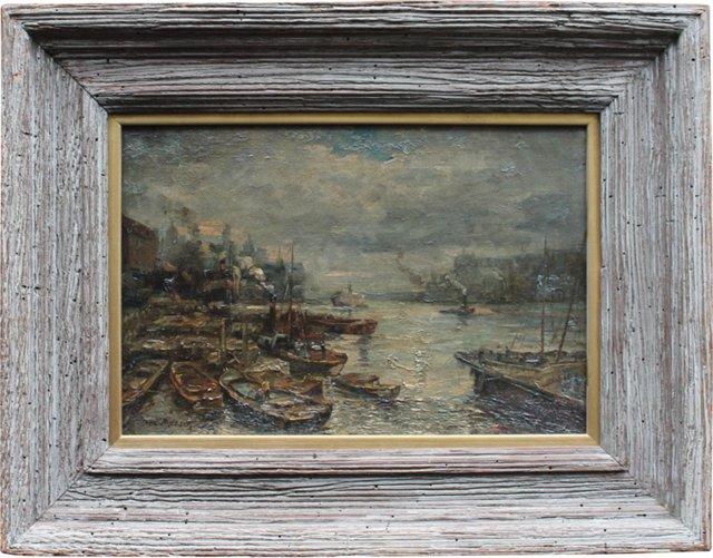 Harbor Scene by Dora Meeson