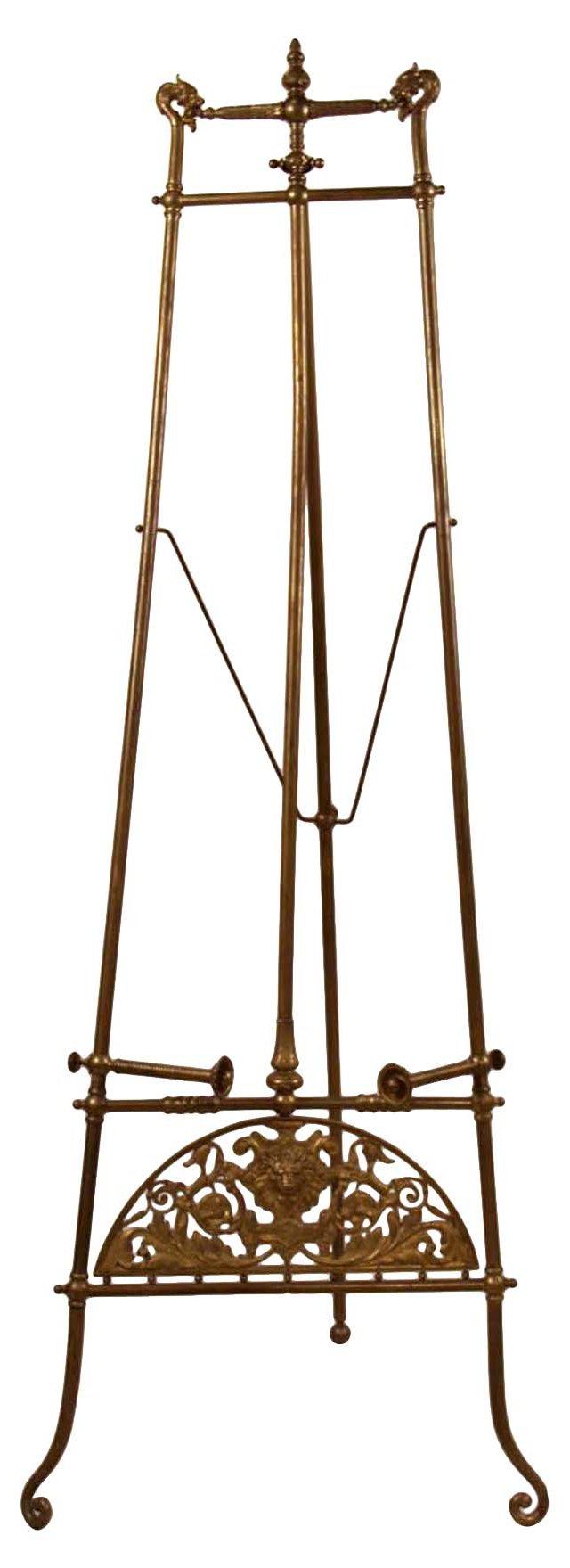 Brass Renaissance-Style Easel