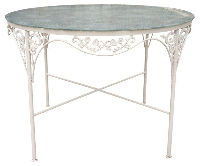 Salterini-Style Round Patio Table