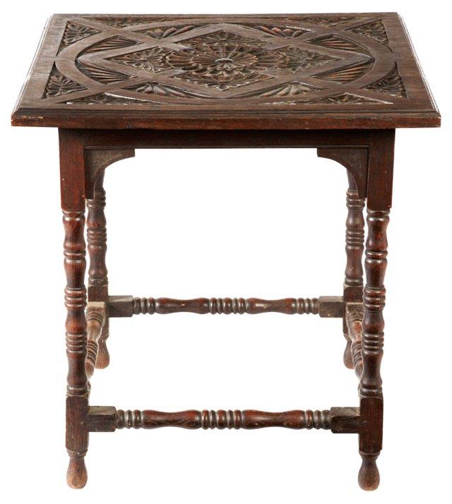 19th-C. Belgian Oak Side Table