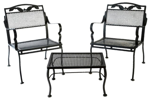 Outdoor Metal Table & Chairs