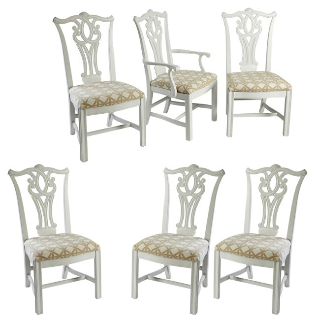 Chippendale-Style  Chairs, S/6