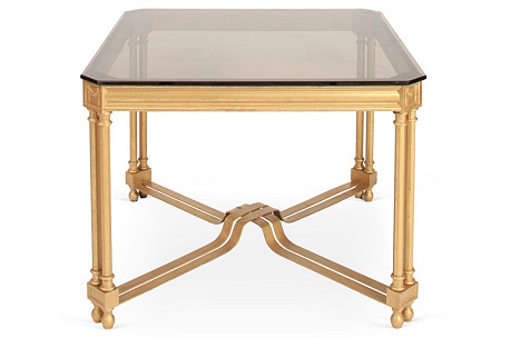 Square Glass-Top Coffee Table