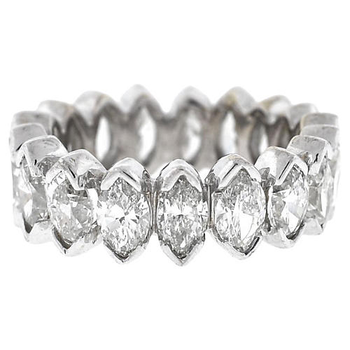 18K Gold & Marquise Diamond Ring