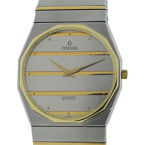 Concord Mariner 2-Tone Quartz Watch