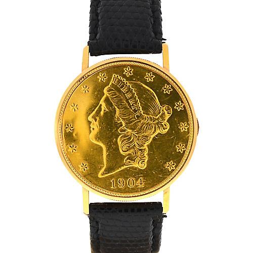 18K Ulysse Nardin Gold Manual-Wind Watch