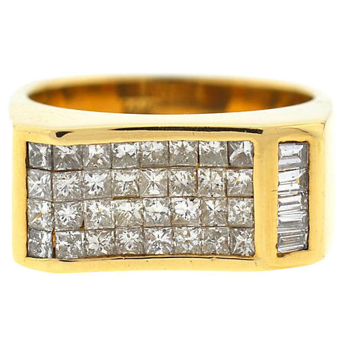 14K Gold & Diamond Men's Ring