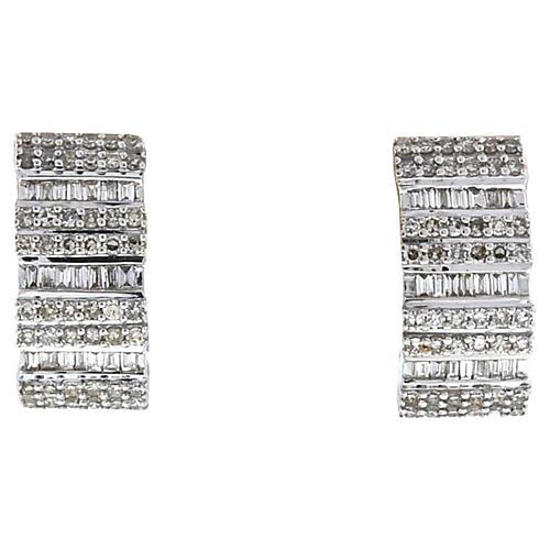 Diamond Demi-Hoop Earrings