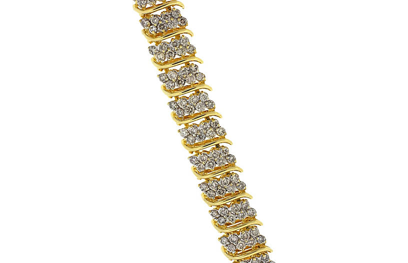 14K Gold & Diamond Bracelet