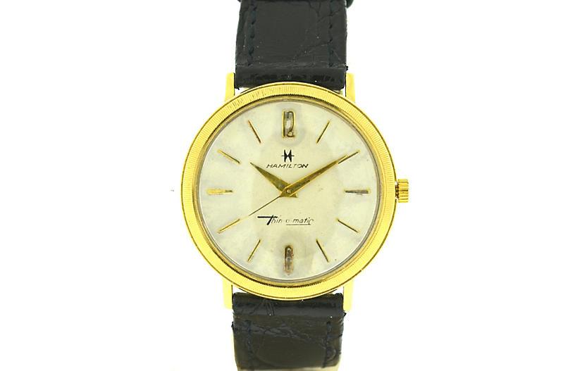 Hamilton Yellow Gold Vintage Watch