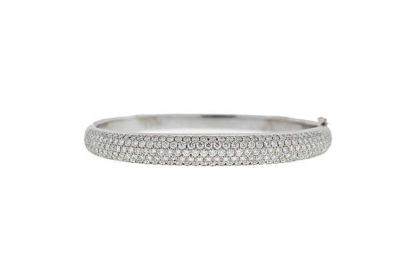 18k White Gold Pave Diamond Bracelet
