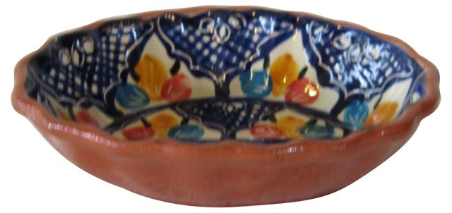 Hand-Painted Terracotta Bowl