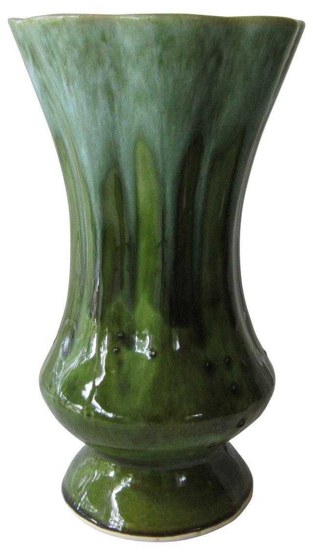 Green & Blue Drip-Glaze Vase