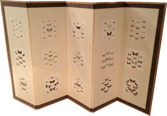 Japanese Screen w/ Antique Prints