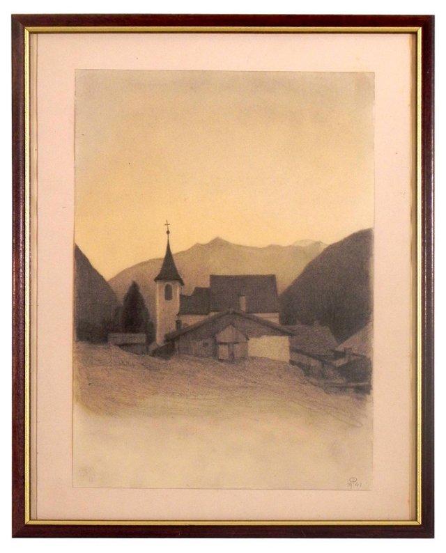Mountain Church by Paul Passini