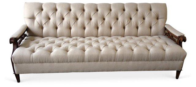 Tufted Sofa w/ Decorative Sides