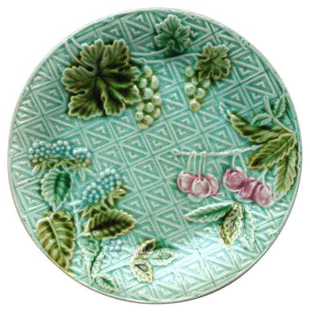French Majolica Salins Plate