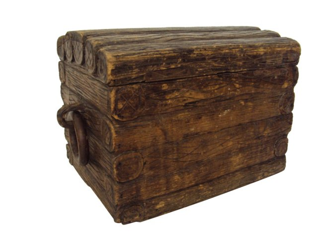 19th-C. French Carved   Trunk
