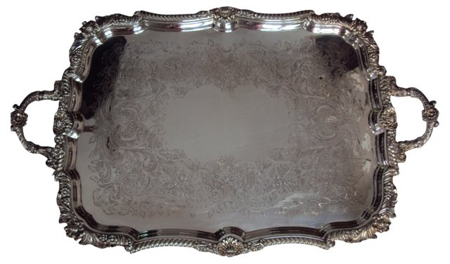 Barker Ellis Silverplate Tray