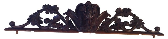 French Pediment w/ Boar Head