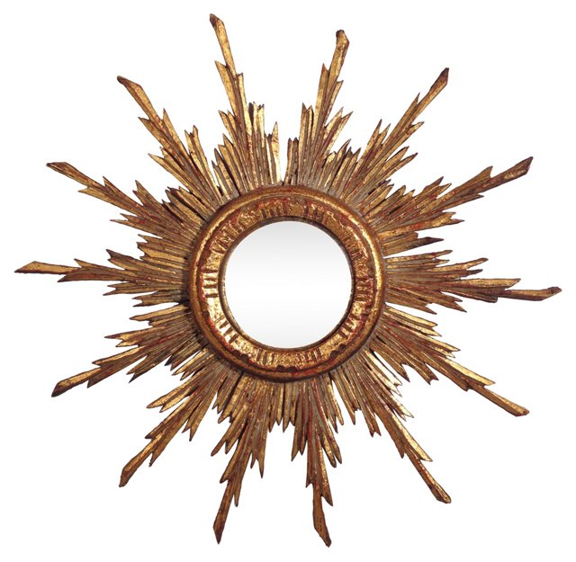 Convex French Starburst Mirror