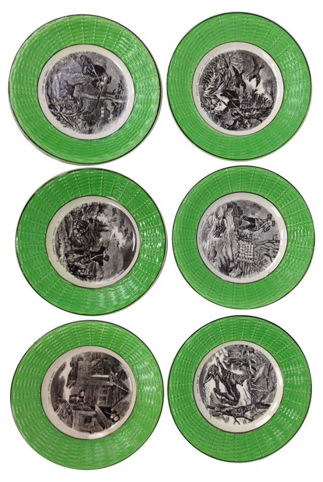 French Hunt Plates, S/6