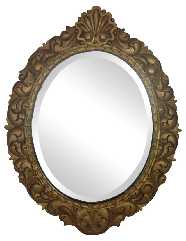 English Gilded & Carved   Mirror