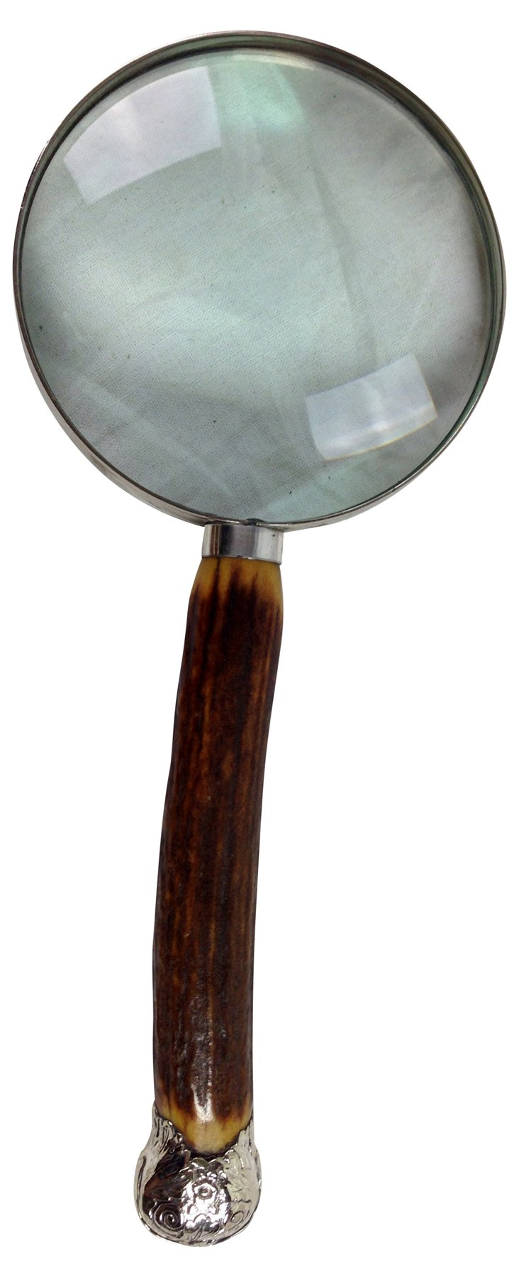 English  Antler-Handle Magnifying Glass