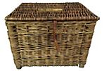 English Wicker Fishing Creel