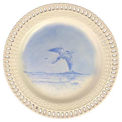 Wedgwood Hand-Painted Creamware Plate
