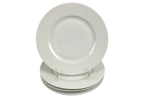 French Light Blue Plates, S/4