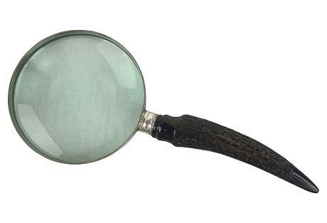 English Antler   Handle Magnifying Glass