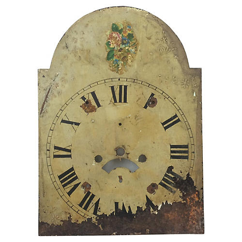 English Hand-Painted Clock Face