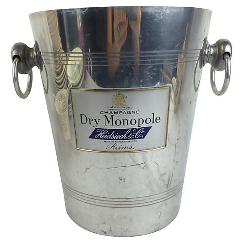 French Aluminum Champagne Bucket