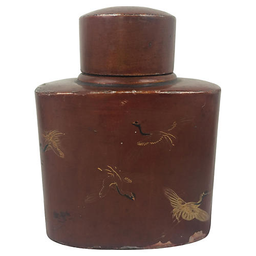 Chinese Papier-Mâché Tea Caddy