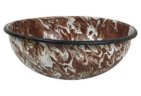 French Enamel Bowl