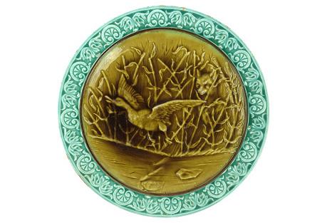 Villeroy & Boch Majolica  Plate w/ Bird