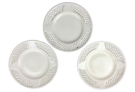 Swedish Creamware Plates, S/3