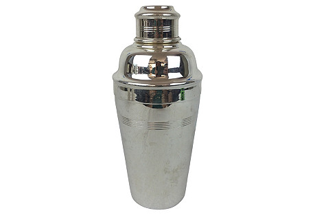 English Silver-Plate Cocktail Shaker