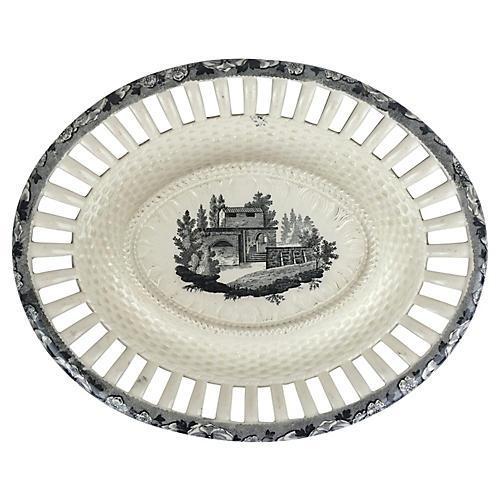 English Transferware Creamware Platter