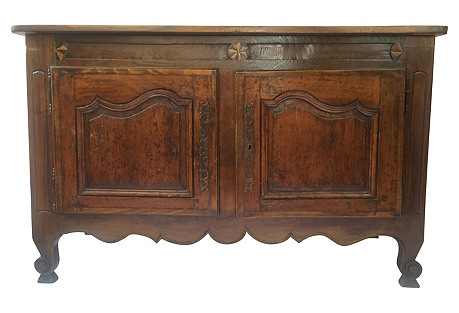 19th-C. French Inlaid Buffet