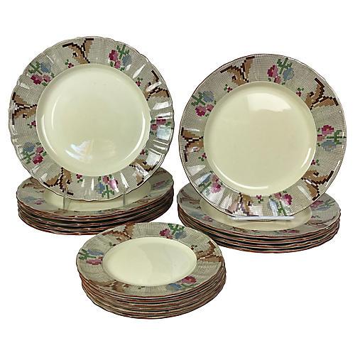 English Mason's Plates, S/17