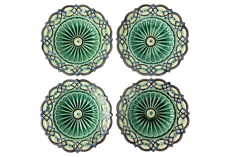 Swedish Majolica Plates, S/4