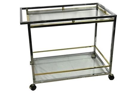Spanish Chrome Bar Cart