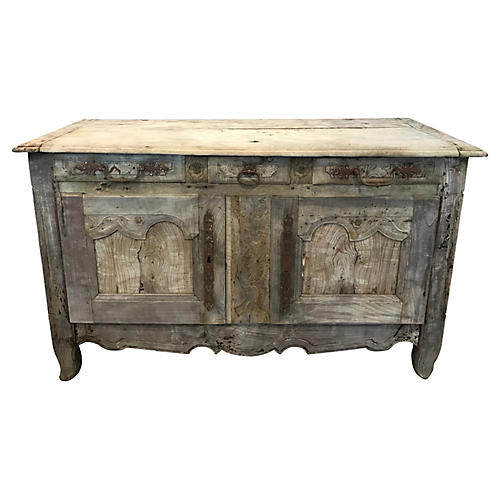 Antique French Stripped Wood Buffet