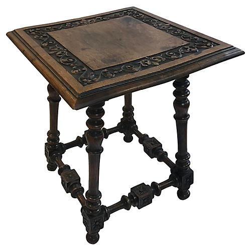 English Carved Side Table
