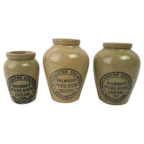 English Cream Pots, S/3