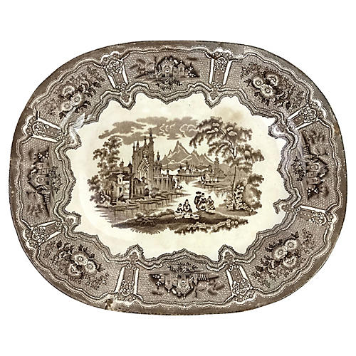 English Transferware Platter, 1880
