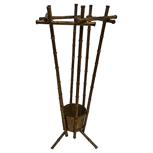 1960s French Bamboo-Style Umbrella Stand