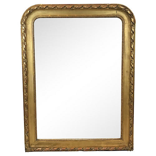French Louis Philippe Gilt Mirror